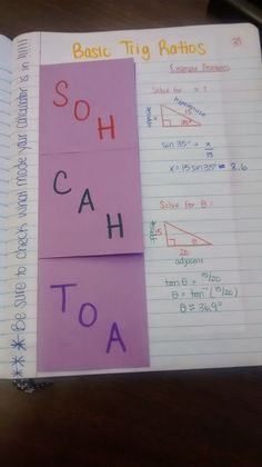 trig ratio foldable and answer to what is a radian? Math = Love: Trigonometry Unit 2 Interactive Notebook Pages