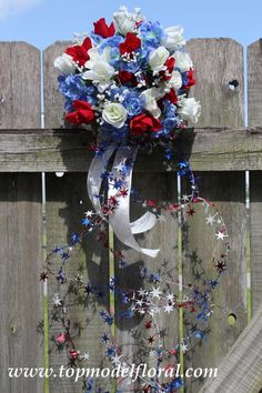 Red, White, And Blue Bouquet