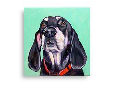 "8""x8"" Acrylic custom pet portrait, original acrylic painting colorful dog cat animal pet lover painting handmade wall art gift"