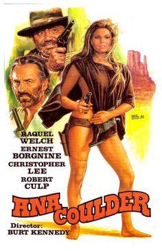 Raquel Welch in the spaghetti western Hannie Caulder, Rachel Welch, Action Movie Poster, Old Movie Posters, Cinema Posters, Westerns, Old Movies, Vintage Movies, Hannie Caulder, Russ Mayer