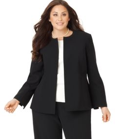A nice, conservative business suit for women.  Keep it simple.