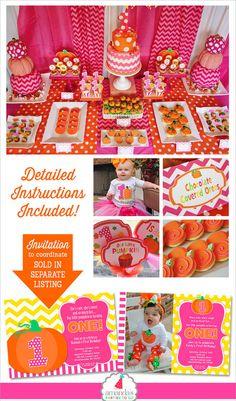 Pumpkin Patch Party Decorations Pumpkin Party Printable My Pumpkin Patch Birthday, Pumpkin Patch Party, Pumpkin First Birthday, Happy Birthday Name, Fall Birthday, October Birthday, Birthday Ideas, Pumpkin 1st Birthdays, Pumpkin Birthday Parties