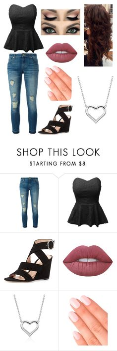 """""""Untitled #47"""" by sweaf840 ❤ liked on Polyvore featuring MICHAEL Michael Kors, LE3NO, Gianvito Rossi, Lime Crime, Blue Nile and Elegant Touch"""