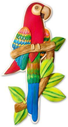 Descargue ahora los Moldes GRATIS de este hermoso Papagayo en Foamy Goma Eva ideal para decorar y dar alegría a ese rincón de tu casa. Tamaño real PDF.