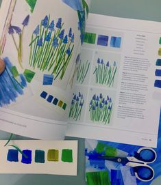 Pages from my book, Painted Botanical Collage by Tracey English Quarry books Lilla Rogers, Easter Colouring, New Nordic, House Gifts, Paper Houses, Toot, Medium Art, My Books, About Me Blog