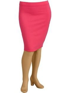 Jersey-Stretch Pencil Skirts
