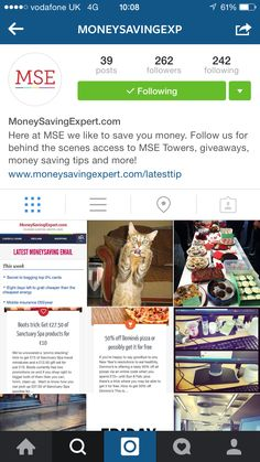 We're on Instagram! Follow us for MSE behind the scenes, deals and more! instagram.com/moneysavingexp #MoneySavingExpert #SocialMedia #Instagram