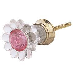 Pink Trumpet Petal Knob from PoshTots