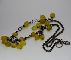 Olive jade necklace. £12.00