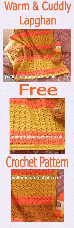 Free crochet pattern for lapghan. #crochet