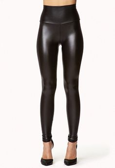 Sat Night possiblity...Faux Leather High Waist Leggings | FOREVER21 - 2078495246