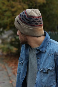 Easy, casual beanie look http://www.kingandfifth.com/collections/mens-fold-up-beanies/products/mens-fold-up-beanie-the-ladro-tan