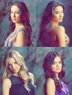 Pretty Little Liars. Top left: Troian Bellisario Top right: Shay Mitchell Bottom left: Ashley Benson Bottom right: Lucy Hale Caleb Pretty Little Liars, Preety Little Liars, Ashley Benson, Best Tv Shows, Best Shows Ever, Le Style Shay Mitchell, Pretty Little Liars Actrices, Carlson Young, Tres Belle Photo
