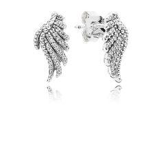 PANDORA | Náušnice, sterlingové stříbro, kubická zirkonie