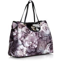 Designer Grey Printed Nylon Tote Bag