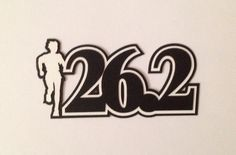 """26.2 Marathon Diecut for scrapbooking and cardmaking.  """"like"""" Crop Paper Scissors and More on Facebook for new products."""