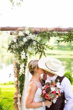 Adorable Country Wedding Photo