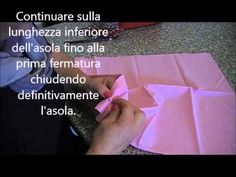 Come realizzare un'asola a mano con cucifacile.it - YouTube