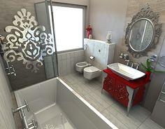 A linear design for a master bathroom Corner Bathtub, Master Bathroom, My Design, Furniture Design, Interior Design, Nest Design, Master Bath, Home Interior Design, Interior Designing
