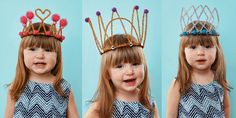 Crowns and tiaras are perfect for fancy dress and birthday parties. Check out our list of 40 DIY crown and tiaras that you can create for your next party. Princess Crafts, Princess Party Favors, Disney Princess Party, Princess Girl, Make A Crown, Crown For Kids, Diy Crown, Diy Tiara, Lollipop Costume
