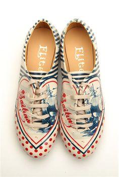 Női oxford cipő, színes - Goby