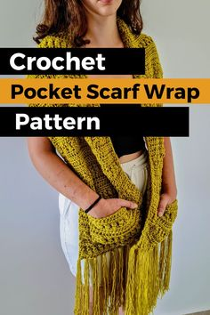 We are going to learn How to Crochet A Scarf with Pockets. Nothing beats a brand new Unique Scarf Wrap, especially one with Pockets and Fringes. Have fun making and wearing this piece or gift it to a friend! Be sure to follow on Instagram and check out my Etsy @SANDRASTITCHESIL Crochet Shawls And Wraps, Crochet Scarves, Learn To Crochet, Diy Crochet, Thick Yarn, Dk Weight Yarn, Wrap Pattern, Easy Crochet Patterns, Beautiful Crochet