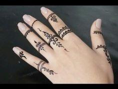 ابسط نقش الحناء للاصابع - YouTube