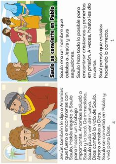 Bible Stories For Kids, Bible Lessons For Kids, Paul Bible, Bible Bulletin Boards, Free Bible Coloring Pages, Spiritual Eyes, Simple Sentences, Sunday School Lessons