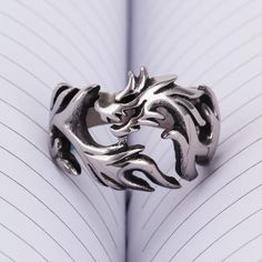 Men's Jewelry Stainless Steel Dragon Ring Punk Biker Band Size 7 14 | eBay