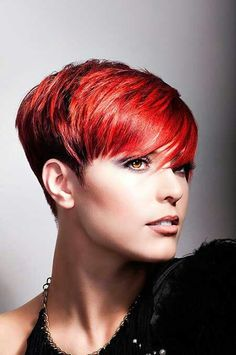 Stunning red pixie