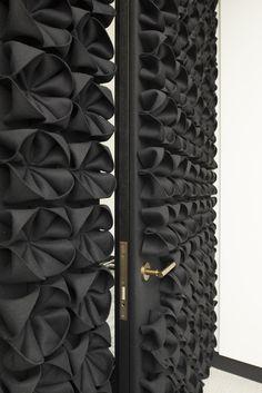 Wool felt decorative acoustical panels DANI by Anne Kyyrö Quinn