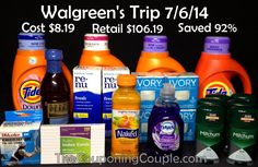 ***COME SHOPPING WITH US VIA VIDEO*** Join us on our Sunday morning (7/6) shopping trip to Walgreens where we saved 92%. We will walk you through all the deals via Video! Click the link below to get all of the details ► http://www.thecouponingcouple.com/walgreens-shopping-trip-on-7-6-14/
