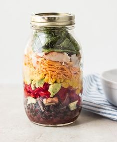 Southwestern Salad in Mason Jar {+a Giveaway} - The Adventures of MJ and Hungryman