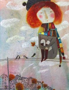 Anna Silivonchik - love the tiny eyes and mouth on this illustration