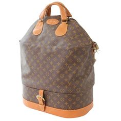 93c3e8bf6434 Louis Vuitton Large Steamer Bag Monogram Travel Tote Keepall Neiman Marcus  70s