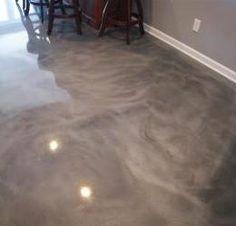 Metallic Epoxy Floor More Stained Concrete, Concrete Floors, Concrete Countertops, Home Design, Design Ideas, Epoxy Floor Basement, Ikea Baby Nursery, Metallic Epoxy Floor, Metal Floor