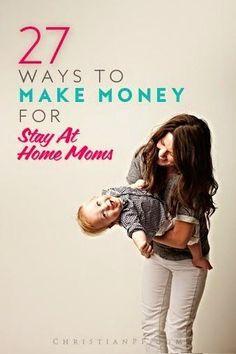 27 Ways to Make Money for Stay at Home Moms | FormalHealth save money on babies, #SaveMoney #Money
