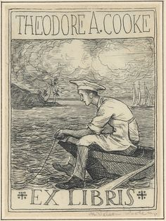 Bookplate of Theodore A. Cooke designed by H. Nelson Pool