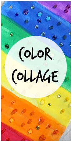 Rainbow color collage - a fun process art project kids can do individually or collaboratively