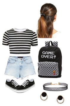 """""""Untitled #376"""" by tshyra ❤ liked on Polyvore featuring L. Erickson, Alexander Wang, Topshop, Humble Chic and Vans"""