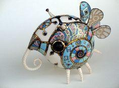 butterfly - porcelain sculpture - by Ukrainian artists Anya Stasenko and Slava Leontyev Ceramic Pottery, Ceramic Art, Ceramic Workshop, 3d Fantasy, Gothic Dolls, Ceramic Animals, Arte Popular, China Painting, Objet D'art