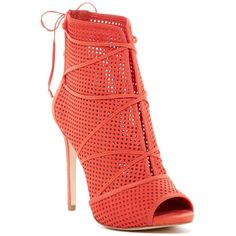 GUESS Ayanae Lace-Up Sandal ($70) ❤ liked on Polyvore featuring shoes, sandals, peeptoe shoes, laced sandals, peep toe sandals, tie shoes and lace-up sandals