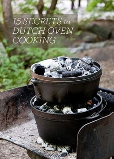 Cooking food when camping can be done in many ways. You can use the hot coals from a campfire for dutch oven cooking when you prefer a hot and tasty meal.