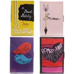Kate spade book clutches...want the Romeo and Juliet one next