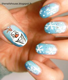 Frozen Disney nail art