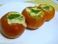 #receita #bomdia #receitasdonajulia #food RECEITAS DONA JULIA - Blog de Culinária Gastronomia e Receitas.: TOMATE RECHEADO