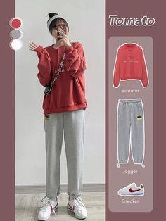 Korean Girl Fashion, Korean Fashion Trends, Ulzzang Fashion, Korean Street Fashion, Kpop Fashion Outfits, Girls Fashion Clothes, Korea Fashion, Tomboy Fashion, Mode Outfits