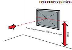 """Результат пошуку зображень за запитом """"оптимальная высота крепления телевизора на стене"""""""