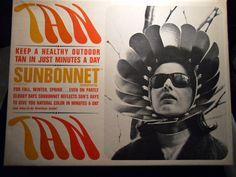 1967 Hippy Novelty. Sun Bonnet Sun Reflector. Odd item, New in Original Box. Sun Worship.