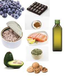 Fuel your mind with...antioxidant-rich foods, like blueberries, curry powder and dark chocolate (in moderation); monounsaturated fats, like those found in olive oil and avocados; foods high in omega-3 fatty acids, like salmon, tuna and walnuts; foods with vitamin E, like pumpkin seeds. (All photos courtesy Thinkstock)